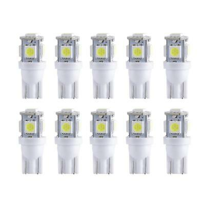 10Pcs Super White T10 Wedge 5-SMD 5050 LED Light bulbs W5W 2825 158 192 168 19