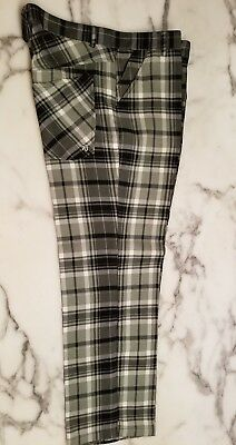 2ee524feb5 Sub 70 Plaid Polyester Leisure Golf Bowling Disco Trousers Pants 34x30 EUC  Nice!