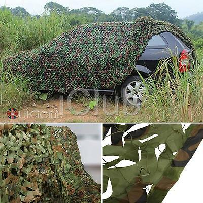 Camouflage Net Camo Netting Hunting Shooting Hide Woodland Green Army Accessory