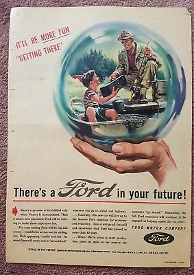 1940s Advertisement WWII St Louis Post Dispatch Ad Ford Motor Company