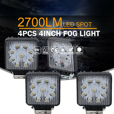 "4x 4"" inch Spot LED Work Light Bar Offroad ATV SUV Truck Jeep Fog Driving Lamp"