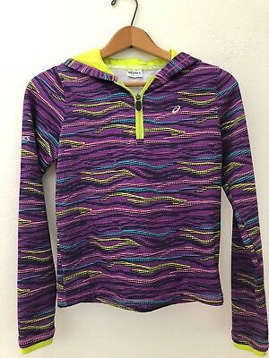 Girls Asics Longsleeve Hooded Quarter Zip SIze Large (12)
