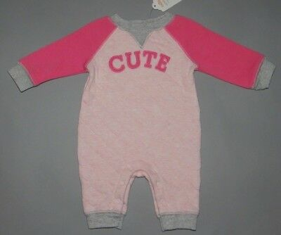 Baby girl clothes, 0-3 months, Gymboree Quilted adorable jumpsuit