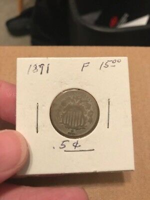 1871 Shield Nickel KEY DATE Only 561,000  Minted
