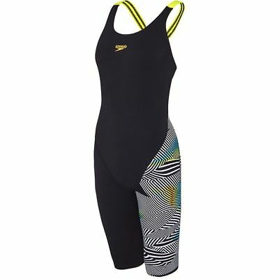 Speedo Women's Sound Waves Leaderback Legsuit Swimwear, Women's Swimwear.