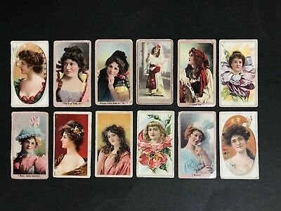 Cigarette Card Lot Of 12 The American Tabacco Co, Mixed Beauties