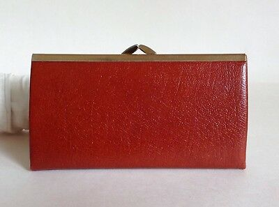 Whisky Tan 1970s Large Leather Vintage Coin Purse Leather & Suede Lining