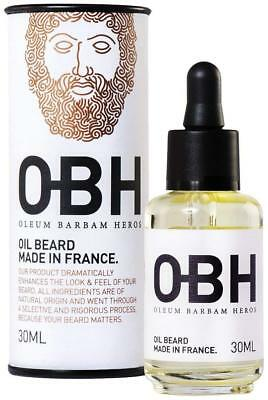 Huile à Barbe 100 % Naturelle OBH ® Le Soin Premium pour Homme Made in France
