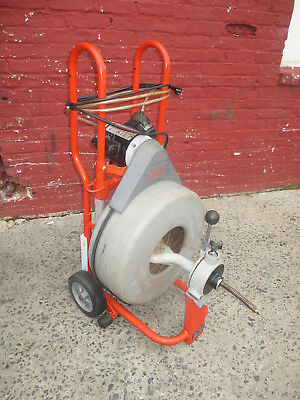 RIDGID K750 SEWER DRUM SNAKE  3/4 x 65' CABLE - AUTO FEED