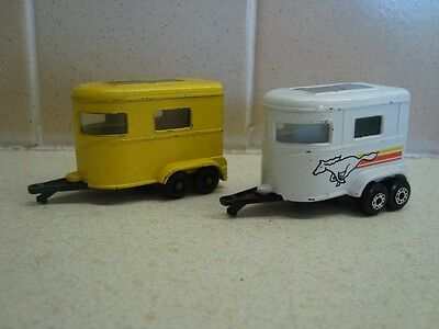 2 Different  Matchbox Pony Trailer / Horse Box