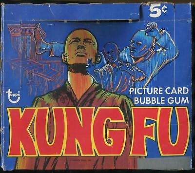 1973 Topps Kung Fu 5-Cent Display Box With Wrapper