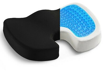Coccyx Orthopedic Memory Foam Seat Gel Cushion Chair Posture Support Pain Relief
