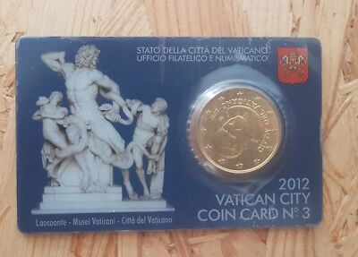Vatikan 50 Eurocent 2012 Coin Card Nr.3 Vatican City 2012
