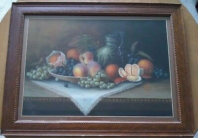 William Henry Chandler (1854-1928) large still life with fruit