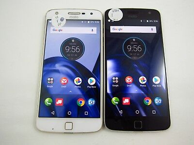 Lot of2 Cracked Motorola Moto Z Play Droid XT1635-01 Verizon Check IMEI CR 3-463