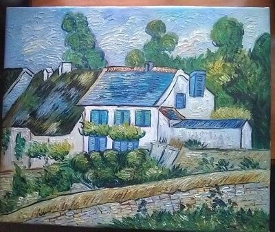 Quality Hand Painted Oil Painting-Repro Van Gogh Houses at Auvers 24 x 20 in