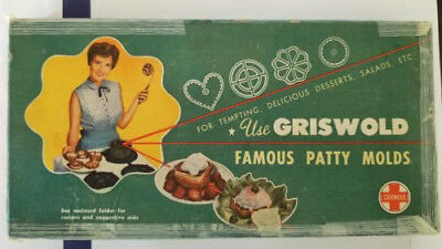 Vintage Griswold Famous Patty Molds in Original Box Advertising Retro