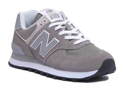 2f6c556b4f178d New Balance 574 ML574EGO Womens Vintage Grey and Silver Trainers UK Size 3  - 8