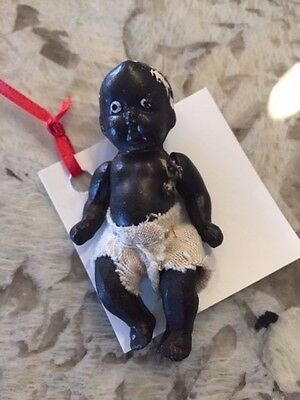 """Vintage African American Occupied Japan Porcelain Baby Figurine (3"""" tall)"""
