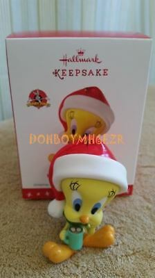 Hallmark 2016 Hot Cocoa Christmas Looney Tunes Tweety Bird Porcelain Ornament