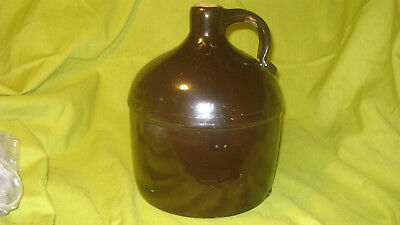 "Antique Brown Whisky Jug 10"" Tall 7"" Bottom See Description for Faults"