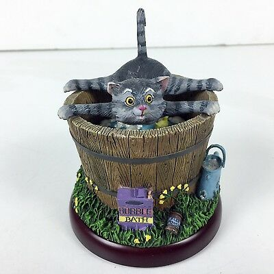 Bath Time Cat Figure By Gary Patterson Danbury Mint 2002 Comical Kitten