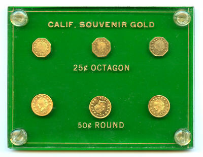 6 Pc. Type Set California Fractional Souvenir Token Set