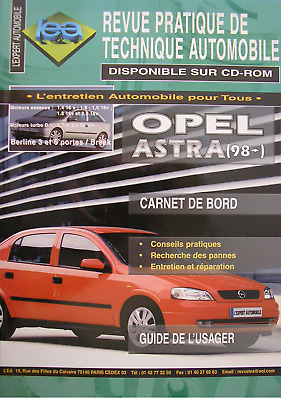 Rta Revue Technique Automobile Opel Astra A Partir De 98 - Guide De L'usager