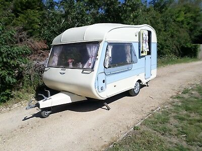 Cute Vintage Cotswold 2 + 2 Berth Classic Caravan Retro Awning Delivery 740Kg