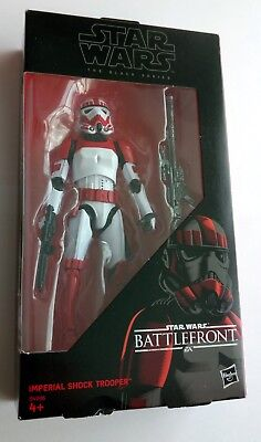"Star Wars Imp. SHOCK TROOPER Black Series TBS 6"" Hasbro BATTLEFRONT Stromtrooper"