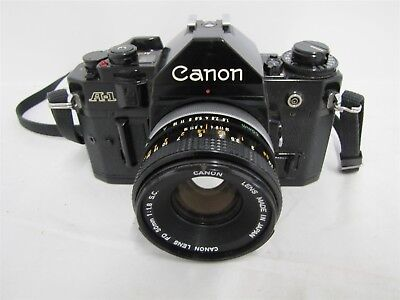 Canon A-1 Camera With 50mm f/1.8 Lens Nonfunctioning Parts Repair