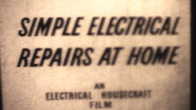 400ft B/W SOUND 16mm CINE FILM 1950s ELECTRICAL REPAIRS AT HOME