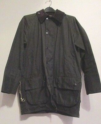Barbour Classic Beaufort England Waxed Cotton Jacket Coat Small