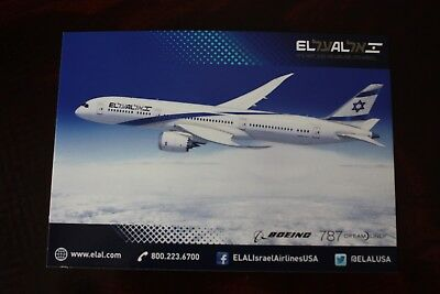 Airline Issue Postcard El Al Boeing 787 Dreamliner It's Not Just An Airline
