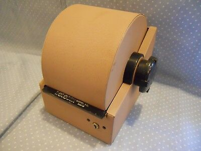 Rolodex 2254D Metal With Cards And Dividers ~Bakelite knobs ~No Key