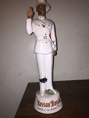 Large 18 inch Nassau Royale  Vintage Ceramic Decanter Bahama Islands
