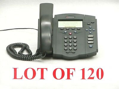 LOT OF 120 POLYCOM SOUNDPOINT IP 430 SIP OFFICE BUSINESS VoIP PHONE TELEPHONE