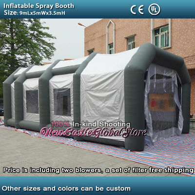 custom made portable  9mLx5mWx3.5mH  Oxford cloth inflatable spray paint booth