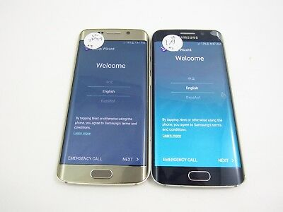 Lot of 2 Google Locked Samsung Galaxy S6 Edge G925V Verizon Check IMEI 5GL 611