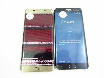 Lot of 2 Cracked Samsung Galaxy S6 Edge Plus G928V Verizon Check IMEI CR 3-1252