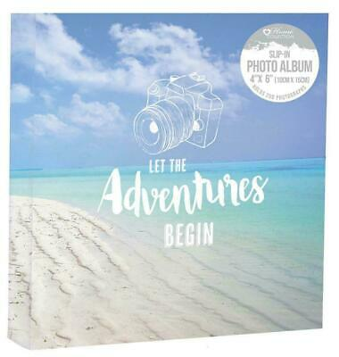 Large Slip in Memo Travel Memories 6'x4' 200 PhotoAlbum Let the adventures begin