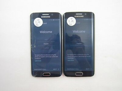 Lot of 2 Crkd Google LKD Samsung Galaxy S6 Edge G925V Verizon Chck IMEI 5GL 1242