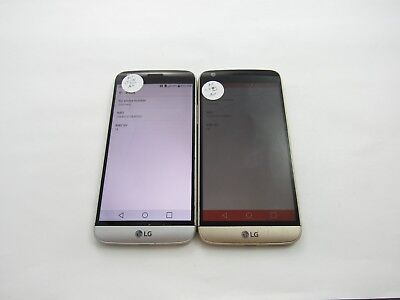 Cracked Lot of 2 LG G5 LG-H820 AT&T Check IMEI 4CR-249
