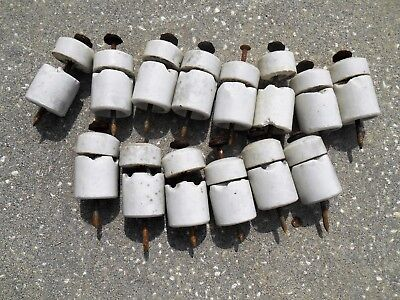 Vintage Knob and Tube Porcelain Architectural Salvage Craft - Lot of 14