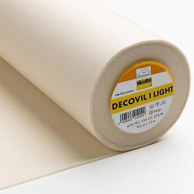 Vilene Iron-on Decovil Light Natural 90cmSold by the Metre