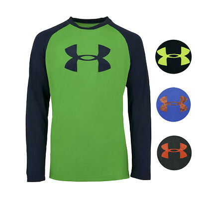 Under Armour Boys' Two-Tone Big Logo L/S T-Shirt