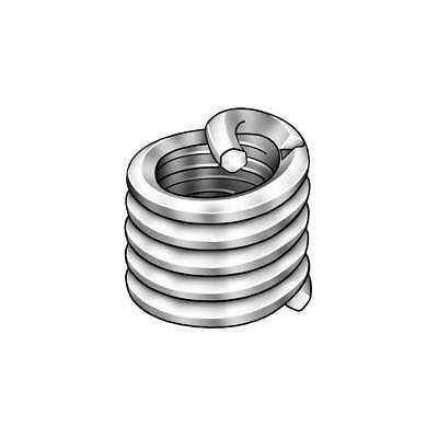 12mm 304 Stainless Steel Helical Insert with M8x1.25 Internal Thread Size 100pc