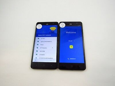 Google Locked Lot of 2 ZTE Grand X 4 Z956 Cricket Check IMEI 4GL-431