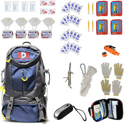 SDS | Survival Backpack Emergency Prep Supply Gear Bag Food Kit 4 Person 72 Hour