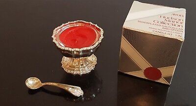 Vintage Avon Hudson Manor Collection  Silverplated Saltcellar and Spoon NIB